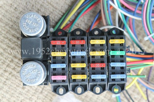 1947 53 chevy truck new fuse box and wiring loom upgrade the new duramax fuse box rebel wire 21 circuit fuse box