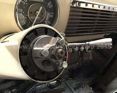 1952 Chevy truck steering wheel.