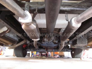 1952 Chevy truck exhaust system. One side completed