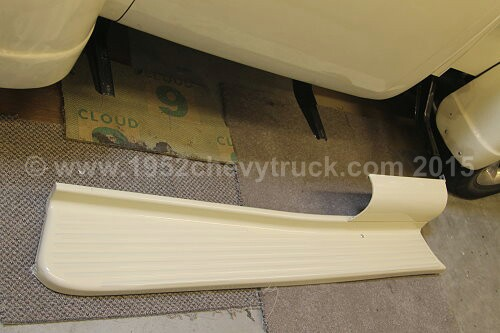 1952 Chevy truck running boards. After.