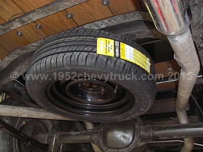 Chevy truck spare wheel