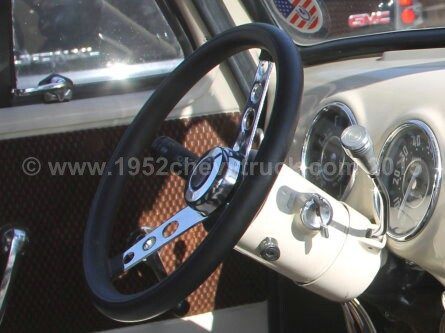 1952 Chevy truck steering wheel. After.