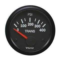 Transmission oil pressure gauge.