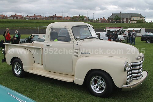 1952 Chevy truck show pictures. After.